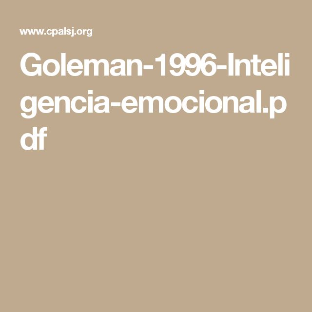 emotional intelligence daniel goleman ebook pdf